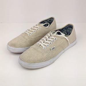 Vans Lo Pro Linen Shoes 9